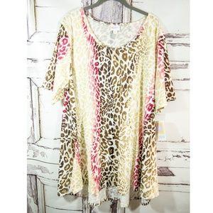 Lularoe NWT 3XL Leopard Pink PERFECT T